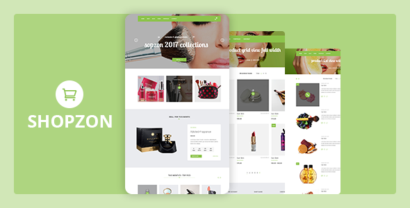 Shopzone - Cosmetics Store eCommerce Template