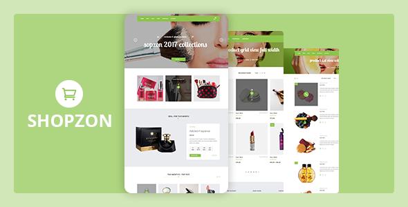 Shopzon - Cosmetics Store eCommerce Template