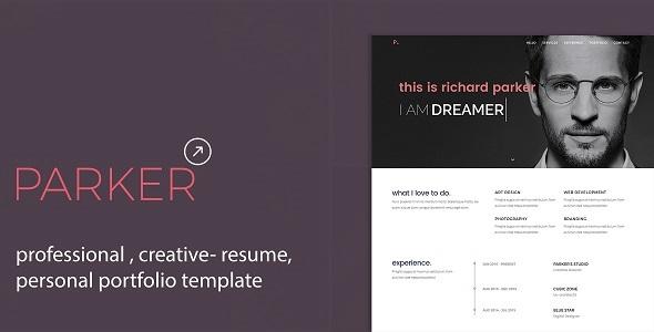 Download Parker - Professional CV / Resume / Personal Portfolio Template