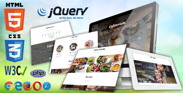 Cafeterium. Responsive Cafe HTML Template
