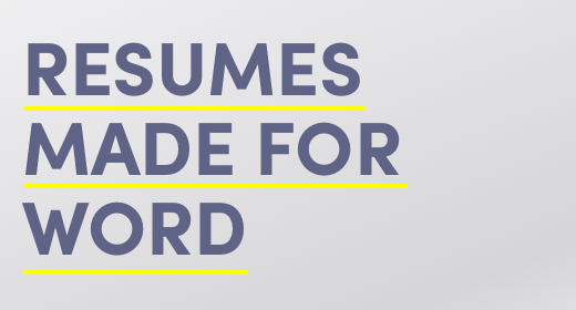 Resumes Made for Word