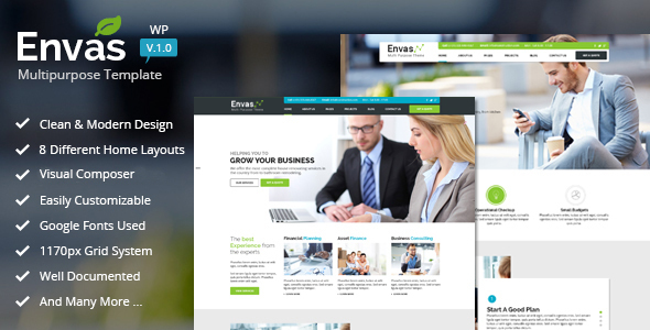 Envas – Multipurpose WordPress (Corporate)