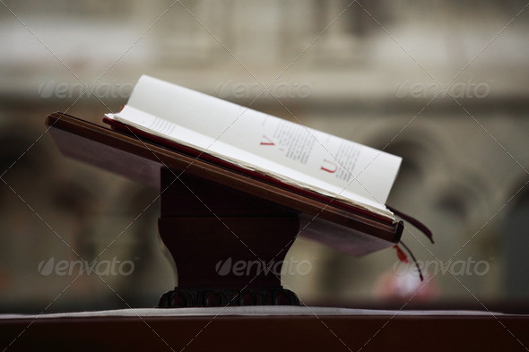 bible in church - Stock Photo - Images