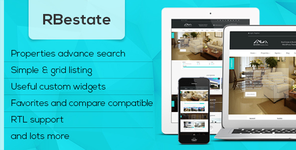 RBestate – Responsive  WordPress Real Estate Theme (Real Estate) images