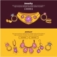 Jewelry Shop Web Banners or Page Vector Flat