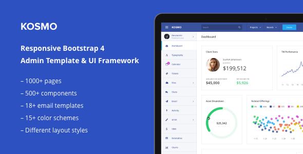 Kosmo - Multi Purpose Responsive Bootstrap 4 Admin Template & UI Framework