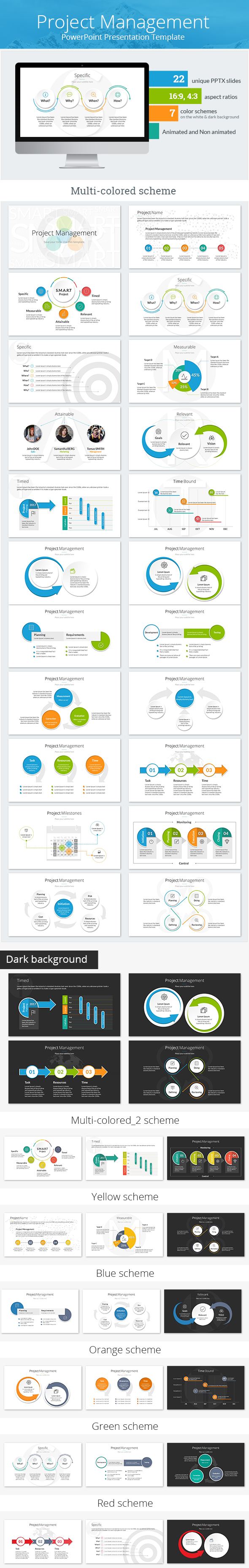 Project Management PowerPoint Presentation Template (PowerPoint Templates)