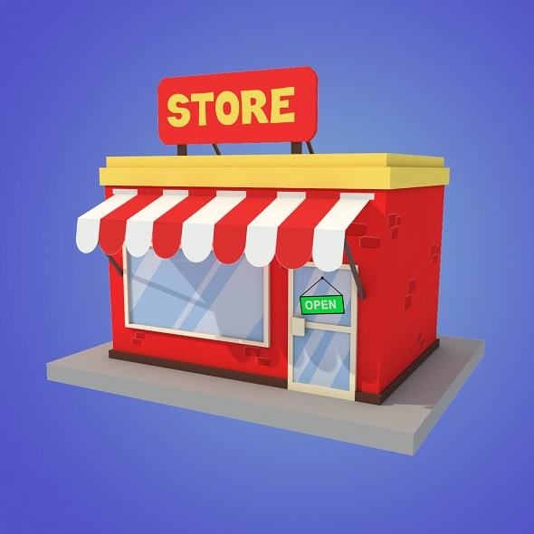 store cartoon low poly - 3DOcean Item for Sale
