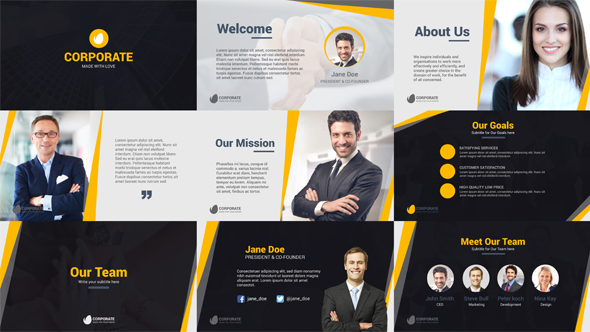 corporate business company profile (corporate) after effects, Powerpoint templates