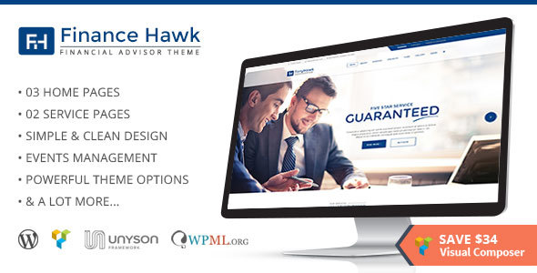 Download Finance Hawk - Finance and Consulting Business WordPress Theme