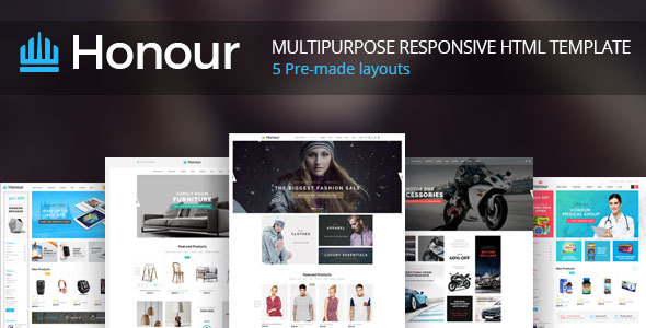 Honour – Responsive Multipurpose E-Commerce HTML5 Template (Retail) images