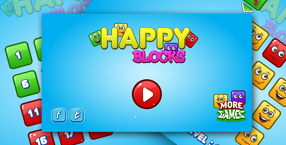 Happy blocks - HTML5 logic game. Construct 2 + mobile