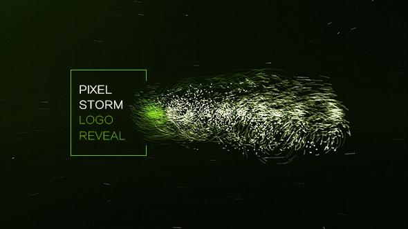 VideoHive Pixel Storm Logo Reveal 19484106