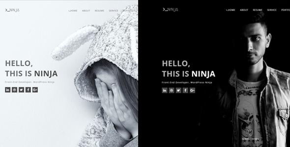 Ninja - One Page Personal Portfolio Template