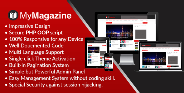 MyMagazine – Totally Responsive Magazine CMS (PHP Scripts)