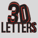3D letters - Red & Black Edition