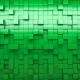 Green Extruded Cubes