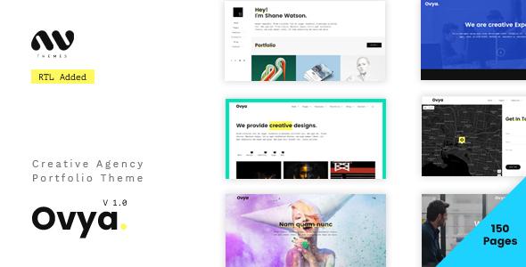 Download Ovya - Minimal Agency Portfolio Template