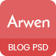 Arwen Creative Blog PSD Template