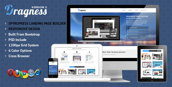 Фото Шаблон Wordpress  Dragness - Premium WordPress Landing Page — preview.  large preview