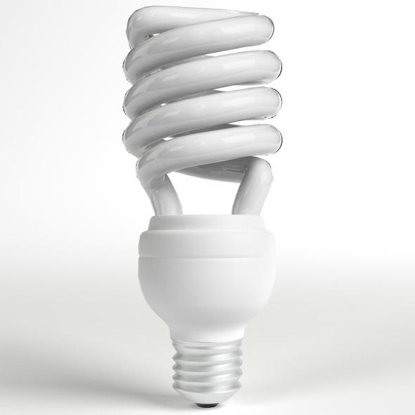CFL Spiral Light Bulb Lamp - 3DOcean Item for Sale
