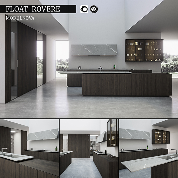 Kitchen Float Rovere - 3DOcean Item for Sale