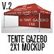 Tente Gazebo 2x1 Mockup_Vol 02