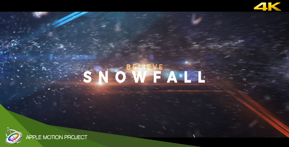 VideoHive Snowfall Dramatic Trailer Apple Motion 19509028
