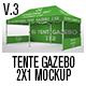 Tente Gazebo 2x1 Mockup Vol 03