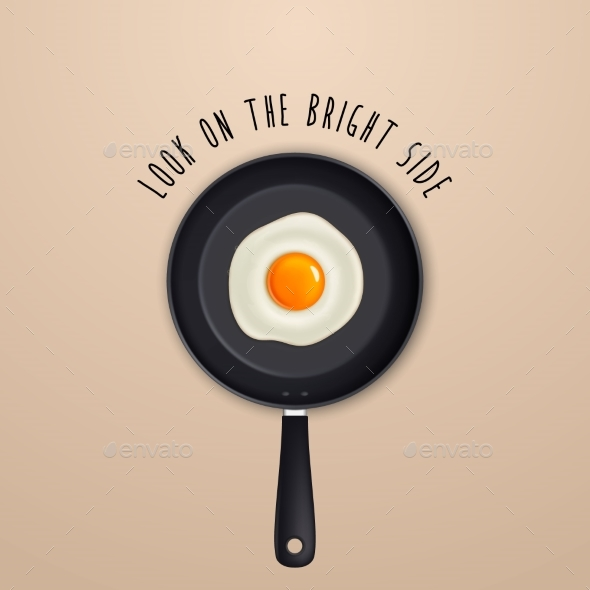 Graphicriver Look on the Bright Side - Background with Quote 19509376