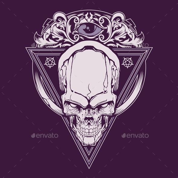 Graphicriver Triangle Skull Illustration 19509688