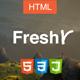 Freshr - Responsive Resume / CV HTML5 Template