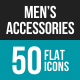 Men's Accessories Flat Multicolor Icons
