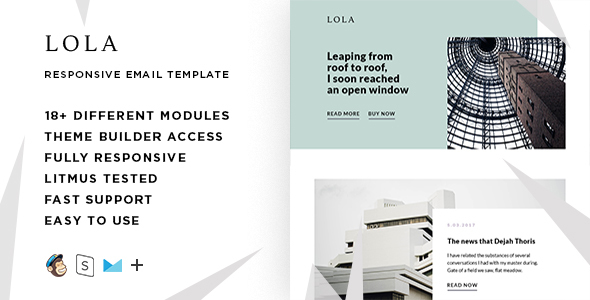 Lola – Responsive Email + StampReady Builder