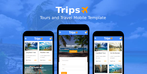 Download Trips - Tours and Travel Mobile Template