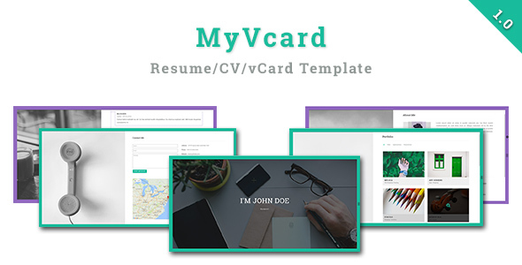 Download MyVCard - Responsive & Creative Resume/CV/vCard Template
