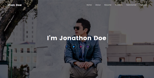 Download Jhon - Personal Portfolio Template