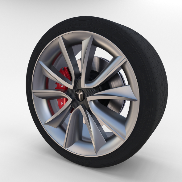 Tesla Model 3 Wheel - 3DOcean Item for Sale