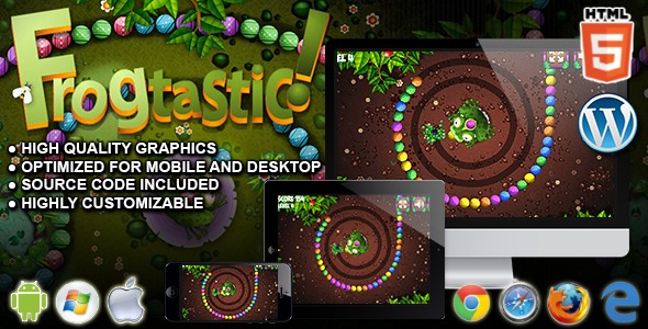 Download Frogtastic - HTML5 Puzzle Game