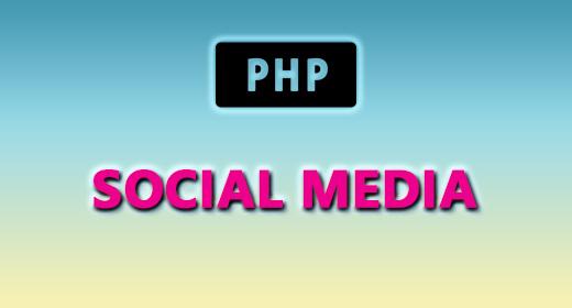 PHP (SOCIAL MEDIA)