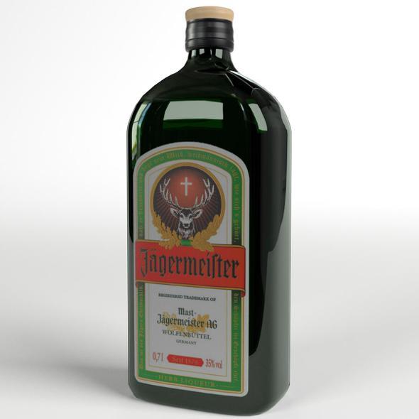 Jagermeister Liqueur Bottle - 3DOcean Item for Sale