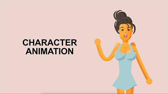 Videohive Sexy Girl Character Rigged Animation 19512945