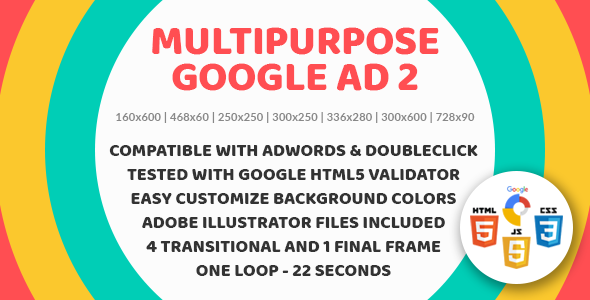 Multipurpose Google Ad two – Animated HTML5 Google Banner Templates for AdWords and DoubleClick Studio (Ad Templates)