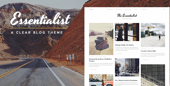 Download Essentialist — A Clear WordPress Blog Theme