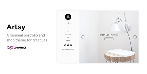 Download Artsy - A Minimal Portfolio and Shop Theme