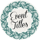 36 Event Titles