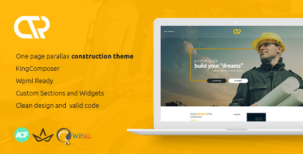 Consta - One Page Construction WordPress Theme