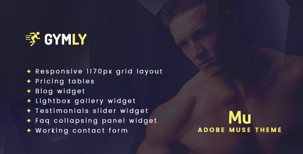 Gymly - Responsive Adobe Muse Theme