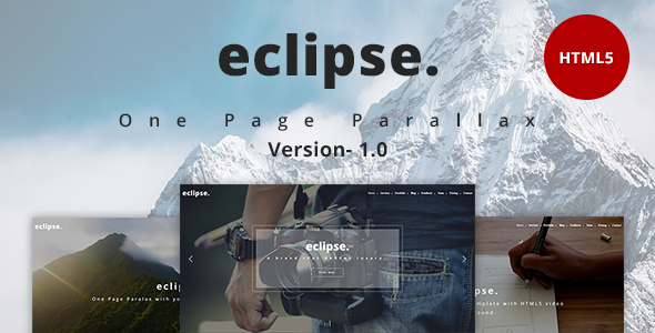 eclipse. – One Page Parallax (Portfolio) images