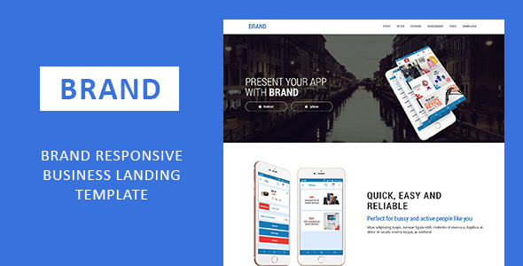 Download Brand Responsive Business Landing Template